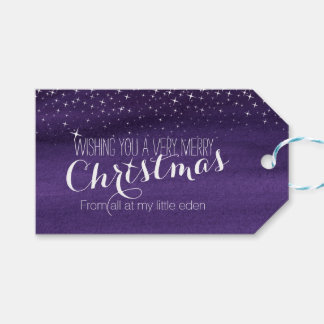 Christmas Starry night sky gift tag Pack Of Gift Tags