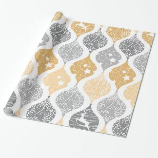 Christmas stars deer joy pattern wrapping paper