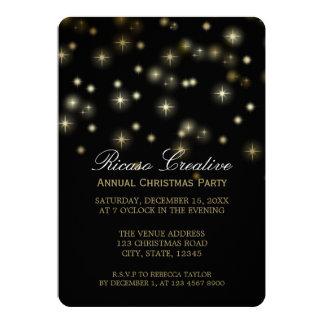 Christmas Stars Festive Corporate Party Card