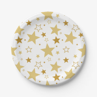 Christmas stars | party paper plate