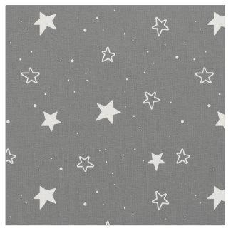 Christmas stars & snows pattern - Xmas gifts Fabric