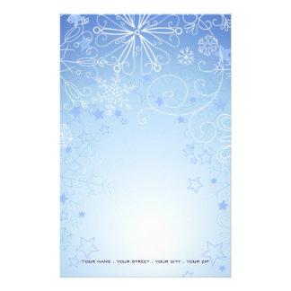 Christmas Stationary Blue & White Stationery