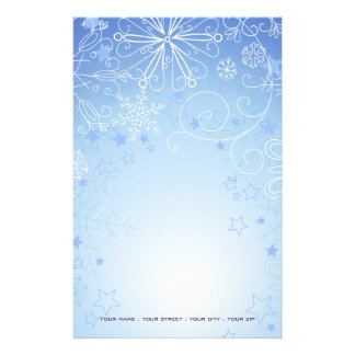 Christmas Stationary Blue & White Stationery Design