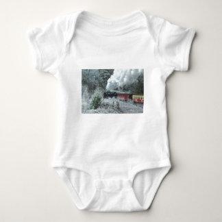 Christmas steam locomotive baby bodysuit