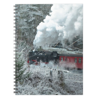 Christmas steam locomotive notebooks
