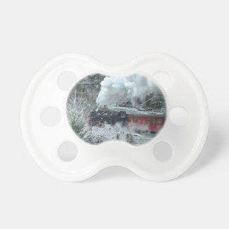 Christmas steam locomotive pacifier