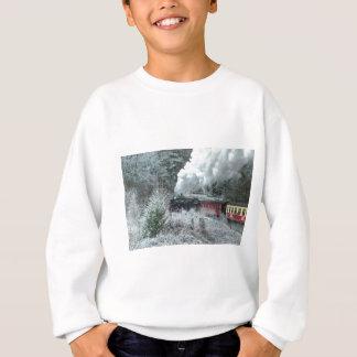 Christmas steam locomotive sweatshirt