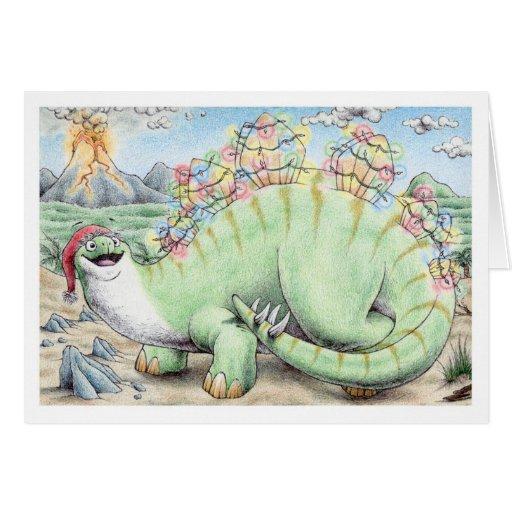 Christmas Stegosaurus Greeting Cards
