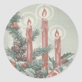 CHRISTMAS STICKER - ADVENT WREATHE AND CANDLES