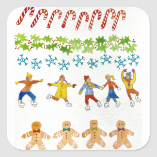 Christmas sticker art for charity