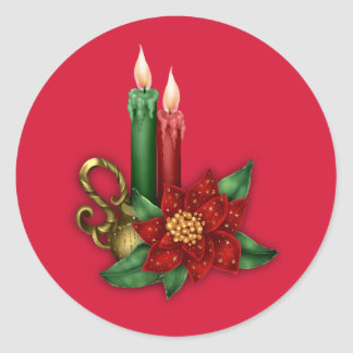 Christmas Sticker with Candles