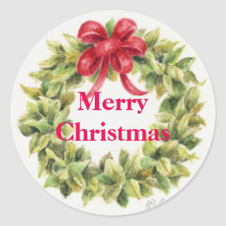 Christmas Stickers Wreath Round