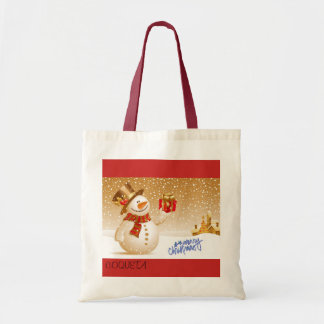 CHRISTMAS STOCK MARKET TOTE BAG
