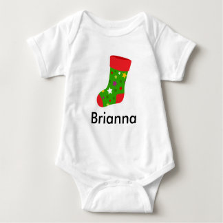 Christmas Stocking Baby Jersey Bodysuit