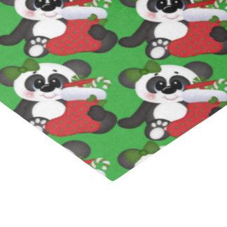 Christmas stocking bear tiled tissue paper