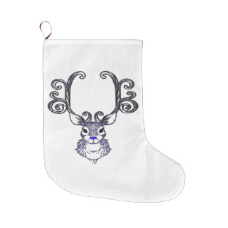 Christmas stocking Bluenoser Blue  Reindeer deer