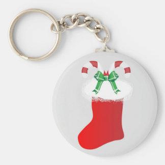 Christmas Stocking Candy Cane Peace Destiny Keychain
