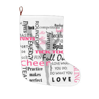 Christmas Stocking Cheerleader Large Christmas Stocking