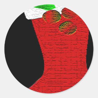 Christmas Stocking Classic Round Sticker