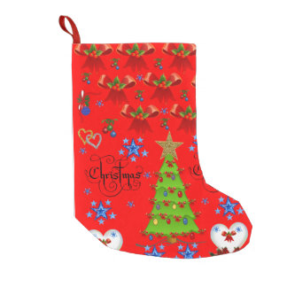 Christmas Stocking dark red