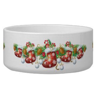 Christmas Stocking Garland Large Pet Bowl