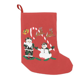 Christmas stocking, holidays, Camo Christmas Small Christmas Stocking
