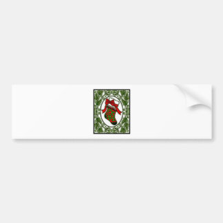 Christmas Stocking in Frame 1a Bumper Sticker