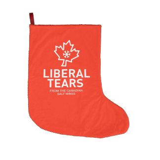 Christmas Stocking Liberal Tears Funny Canada
