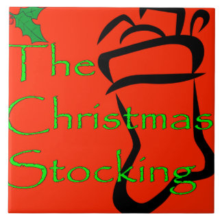 Christmas Stocking logo tile/trivet Tile