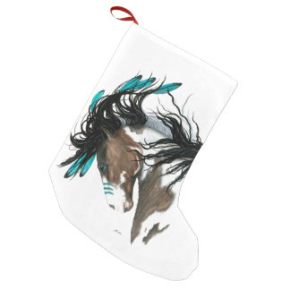Christmas Stocking Majestic Horses by Bihrle Small Christmas Stocking