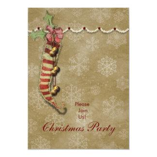 Christmas stocking Old fashion invitation