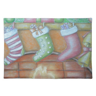 Christmas stocking placemat