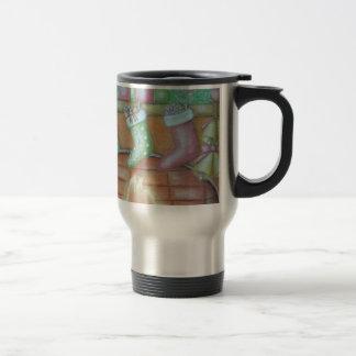 Christmas stocking travel mug