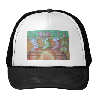 Christmas stocking trucker hat