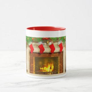 Christmas Stockings and Fireplace Mug