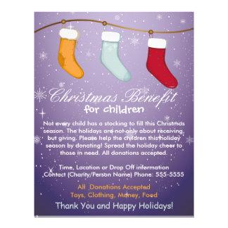 Christmas Stockings Benifit for Children Flyer