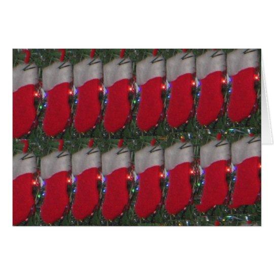 "Christmas stockings - ""Customize me"" Card"