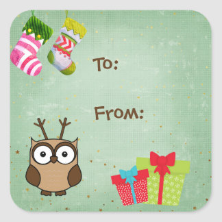 Christmas Stockings & Presents Gift Tag