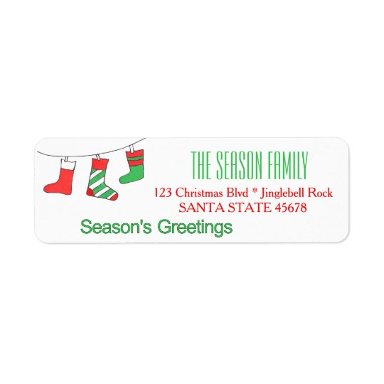 Christmas stockings  Season's Greetings