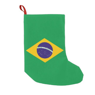 Christmas Stockings with Flag of Brazil