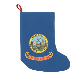 Christmas Stockings with Flag of Idaho, USA