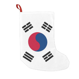 Christmas Stockings with Flag of South Korea