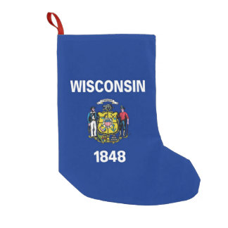 Christmas Stockings with Flag of Wisconsin