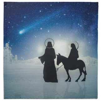 Christmas story Mary and Jesus Napkin