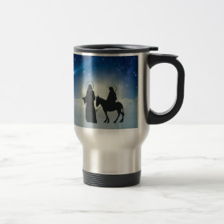 Christmas story Mary and Jesus Travel Mug