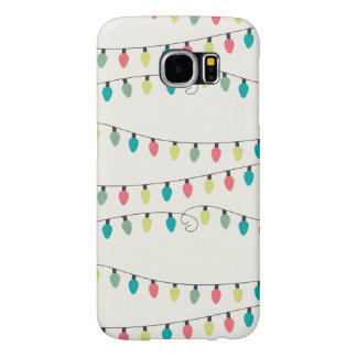 Christmas String of Lights Pattern Samsung Galaxy S6 Cases