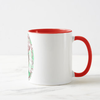 Christmas Stripe Holly Holiday Elf Art Mug