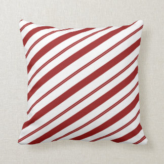 Christmas Striped Candy Cane Cute Holiday Decor Throw Pillow