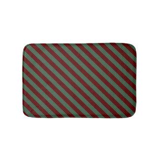 Christmas Stripes Bath Mat