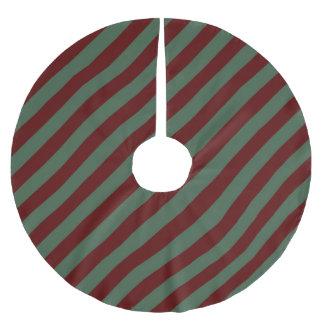 Christmas Stripes Brushed Polyester Tree Skirt